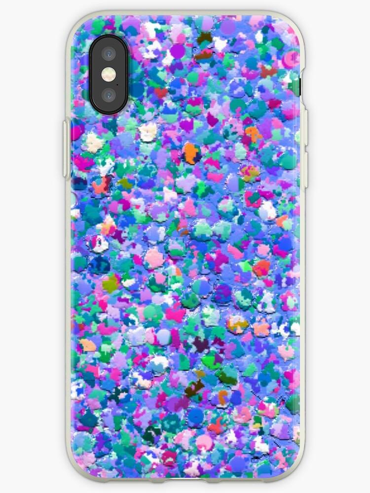 Multicolor Mosaic Modern Grit Glitter by Van Nhan Ngo