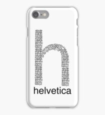 Helvetica iPhone Case/Skin