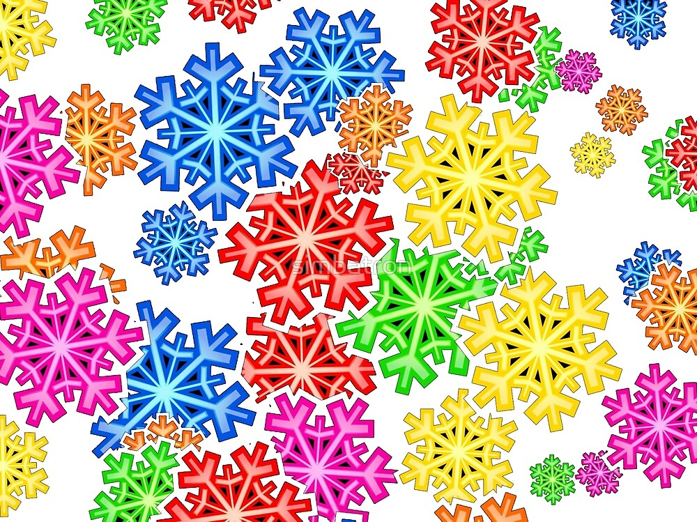 Colour Snow Flakes by simbatron