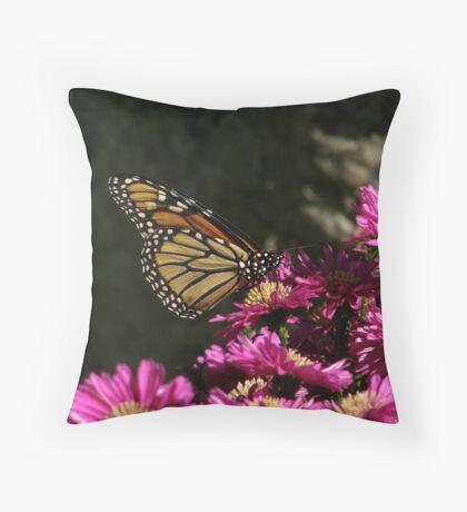 Happy Monarch Throw Pillow