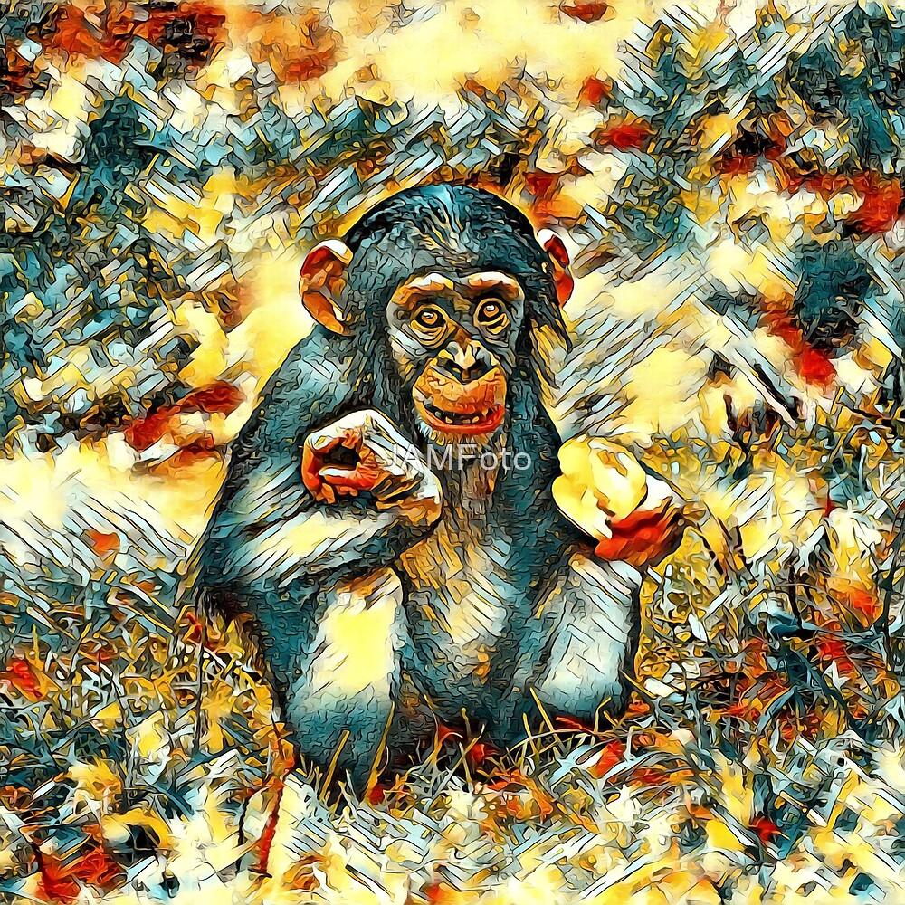 AnimalArt Chimpanzee 002 by JAMFoto
