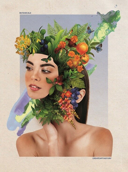 Botanical Girl - CreateArtHistory by Aurora Canales Cottes