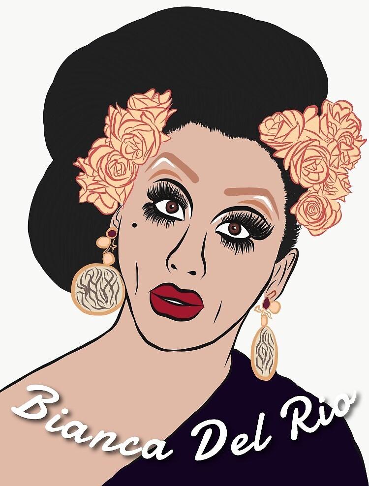 Bianca Del Rio by plahntoutlines