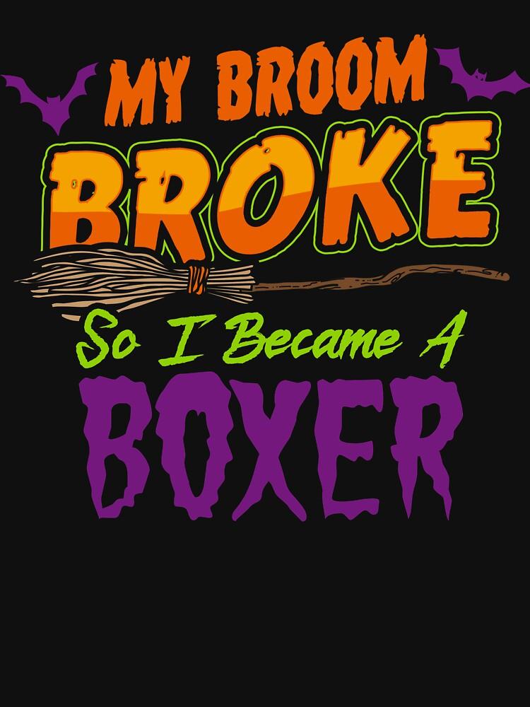 Boxer Haloween funnyshirt by drimel