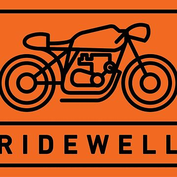 RIDEWELL Logo - Black on Orange by ridewell