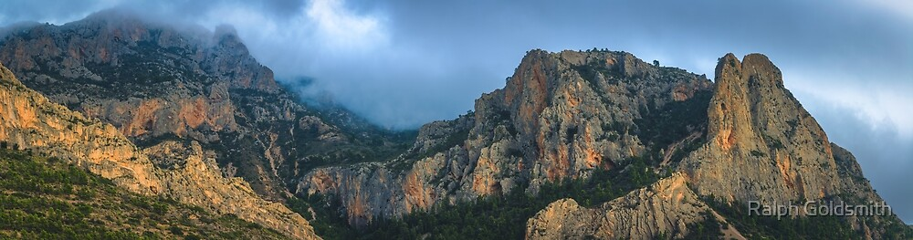 Cloud covered mountain panorama by Ralph Goldsmith