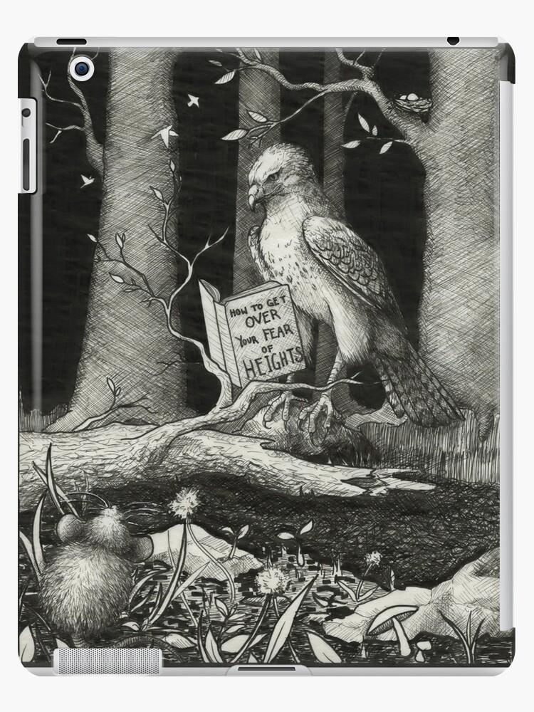 Irony Illustration - Hawk Afraid of Heights by Amanda Tulacz