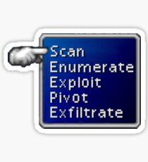 Hacker's FF7 Battle Menu Sticker