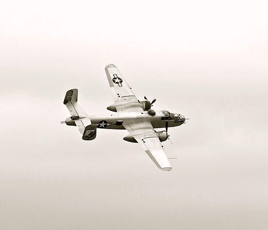WWII B-25 Mitchell Bomber by Amy McDaniel