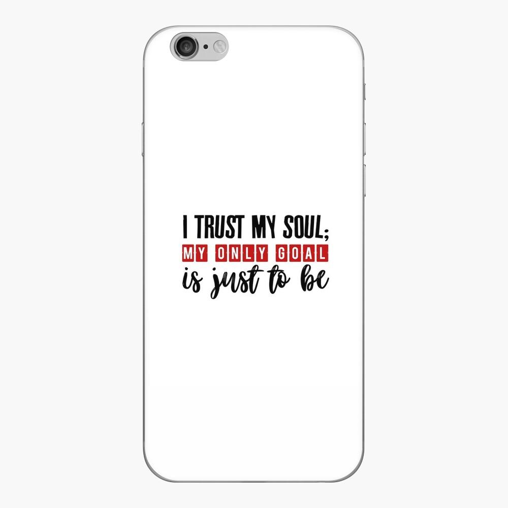 Es gibt nur jetzt iPhone Klebefolie