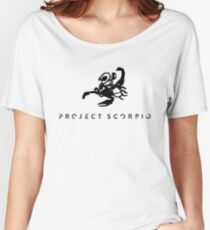 Project Scorpio Black Women's Relaxed Fit T-Shirt