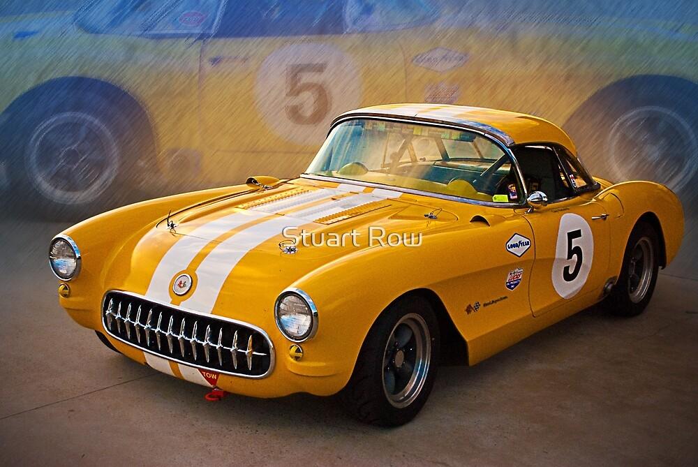 1956 Corvette Front View by Stuart Row