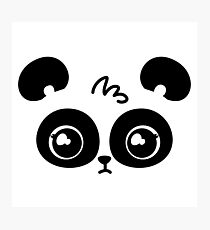 Panda Face Photographic Print