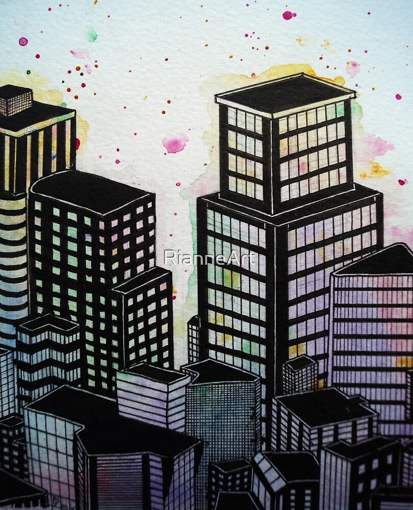 Buildings in Contrast by RianneArt