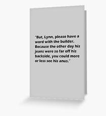 Partridge Builder Greeting Card