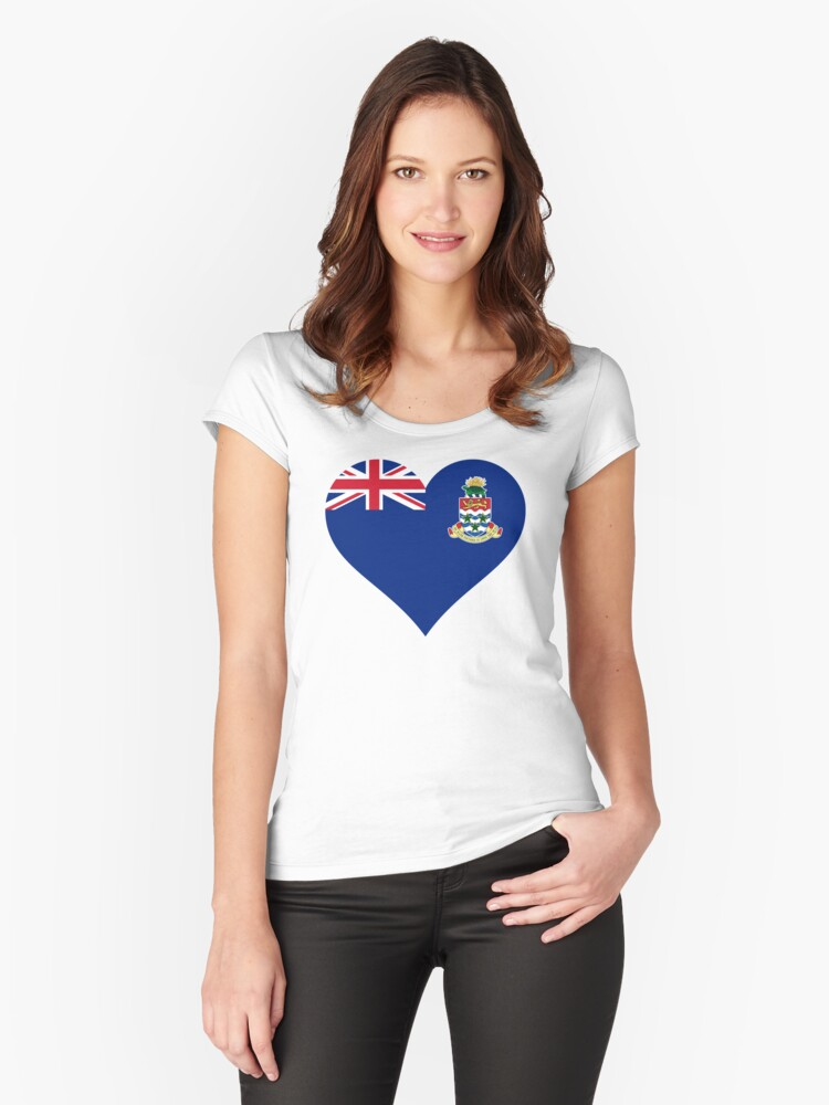 The Cayman Islands Women's Fitted Scoop T-Shirt Front