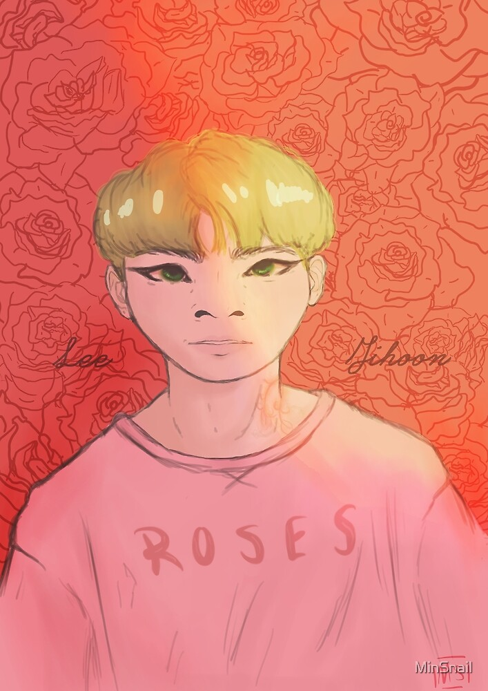 Woozi - Roses (Coloured) by MinSnail