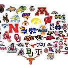 US Map of colleges  by kimruth66