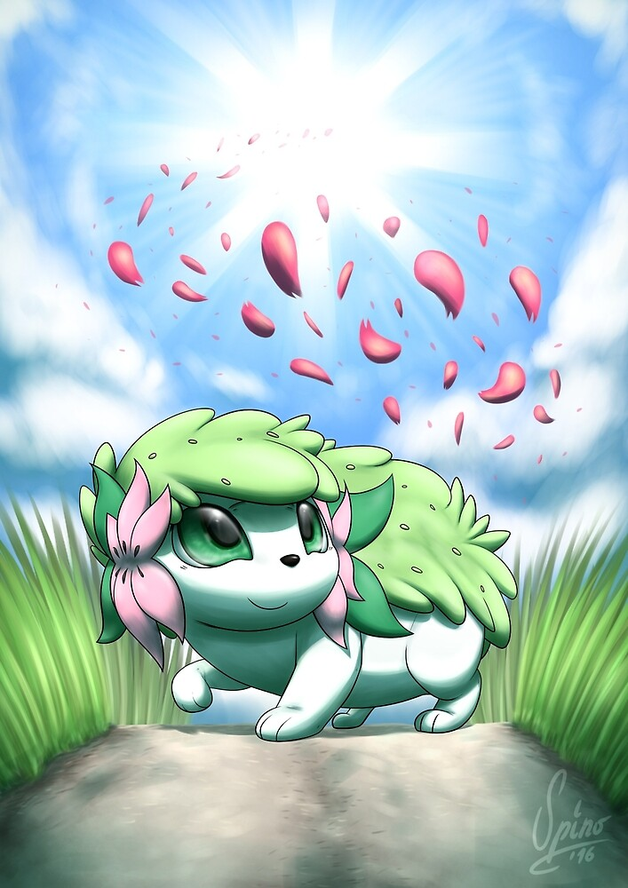 Spring Shaymin by Spino
