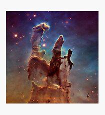 Pillars of Creation, Eagle nebula, space exploration Photographic Print