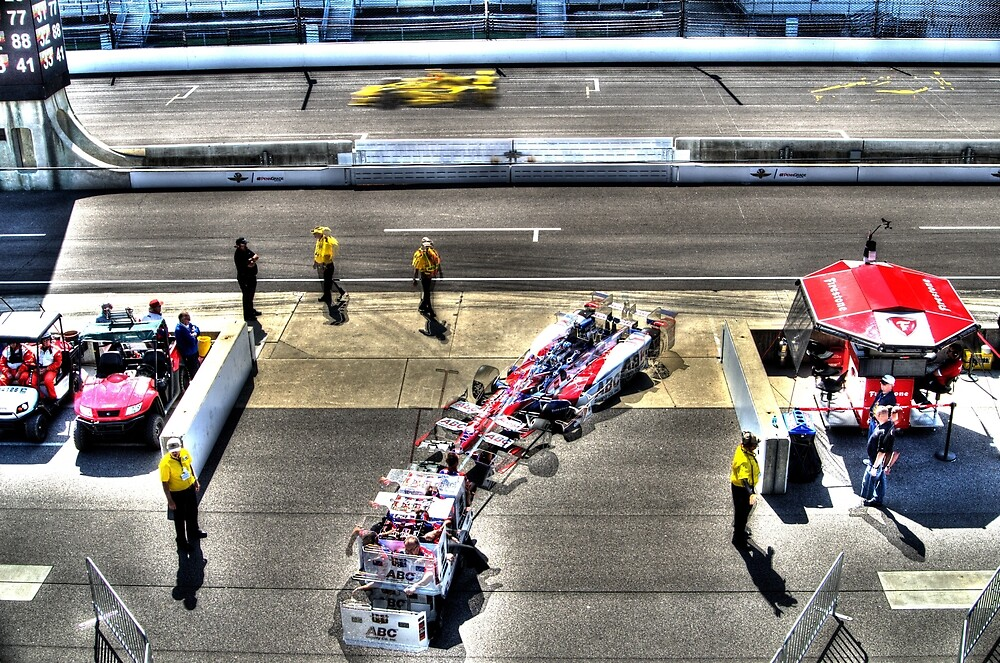 Indy 500 Car into the Pits by JoshWilliamsph