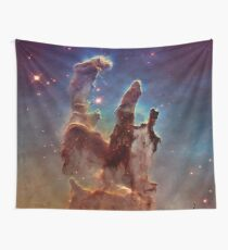 Pillars of Creation, Eagle nebula, space exploration Wall Tapestry