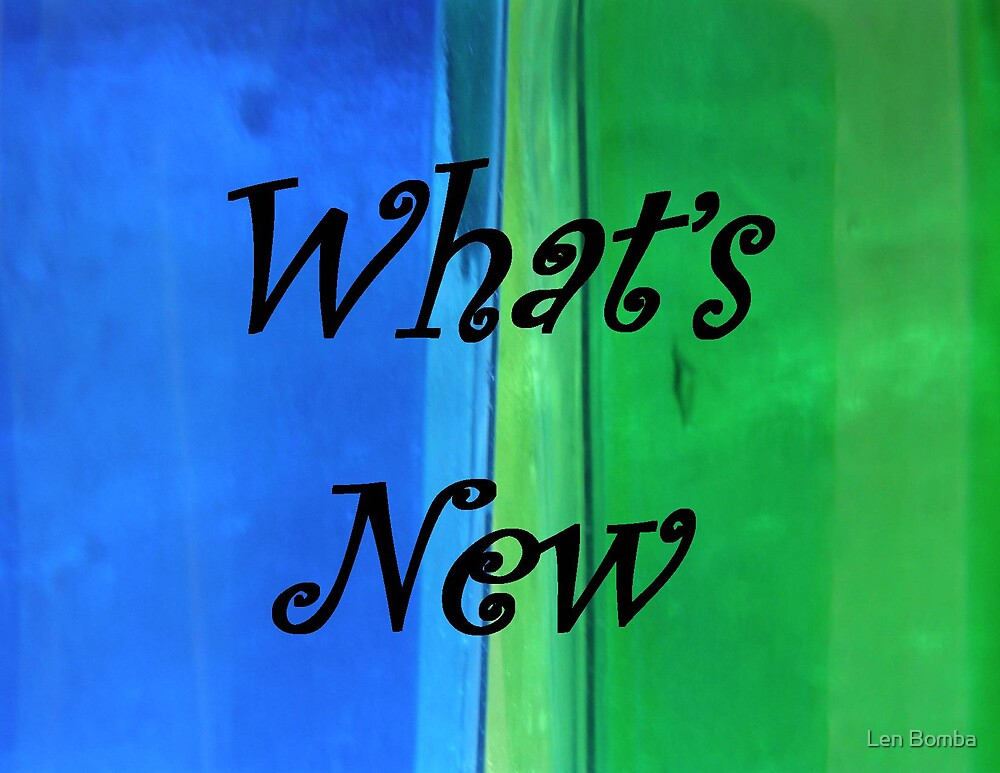 What's New by Len Bomba