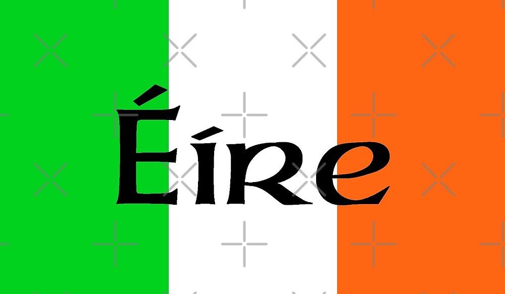 Large Irish Flag with Éíre by litmusician