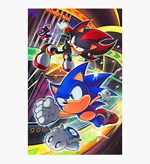 Sonic and Shadow: Hedgehog Alliance Photographic Print