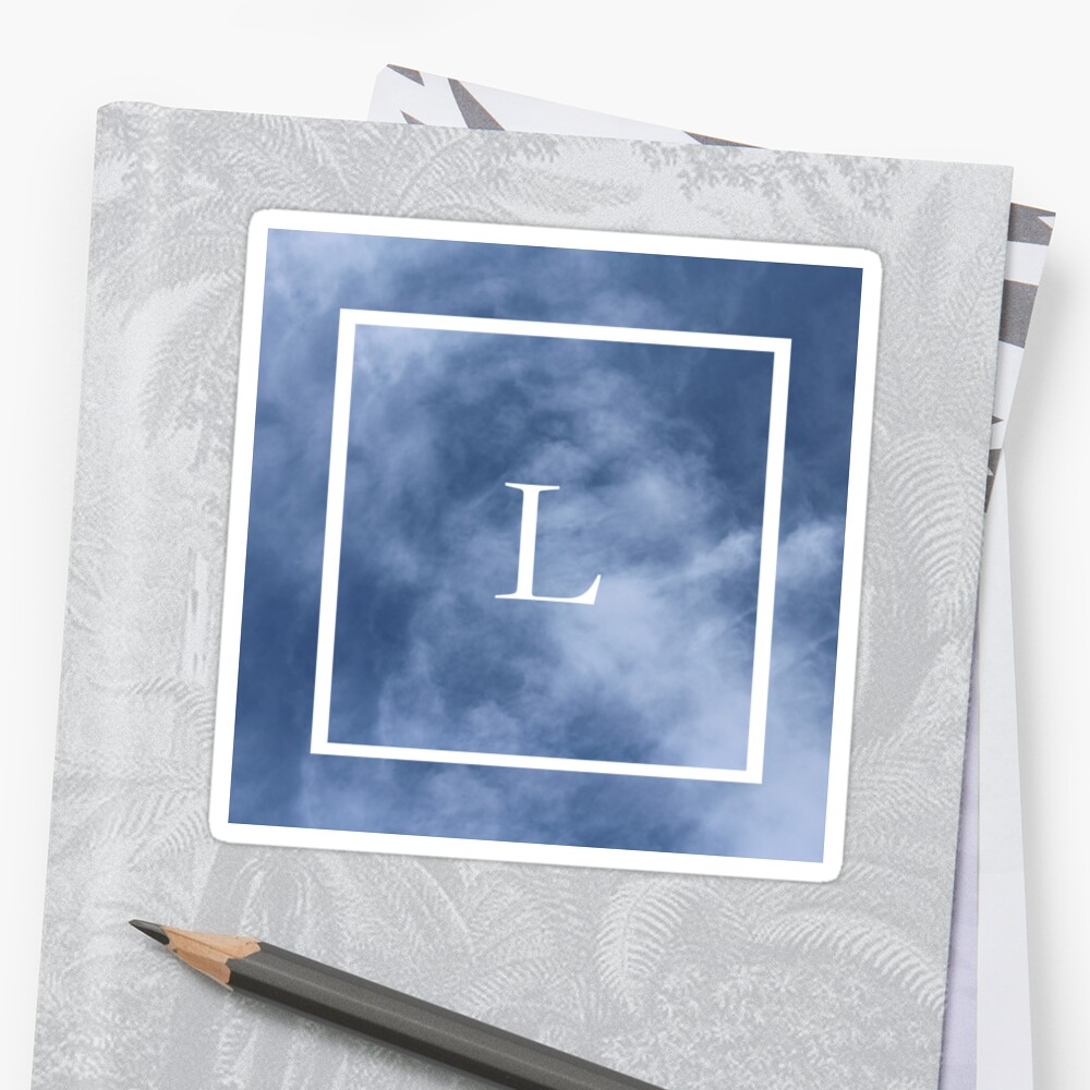 L in the clouds Sticker Front