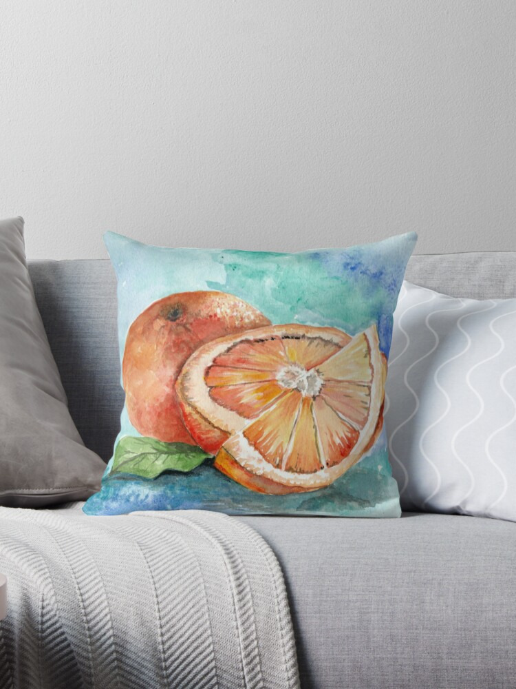 Oranges,Watercolor painting by adriana-holmes