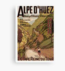 Vintage französische Schweizer Alpen Sport Fahrrad Poster Leinwanddruck