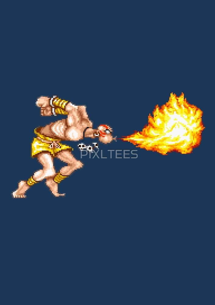 DHALSIM ATTACKS by PIXLTEES