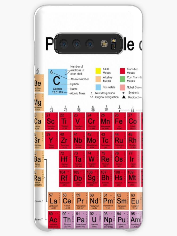 Periodic Table Of The Elements Case Skin For Samsung Galaxy By Carol And Mike Werner