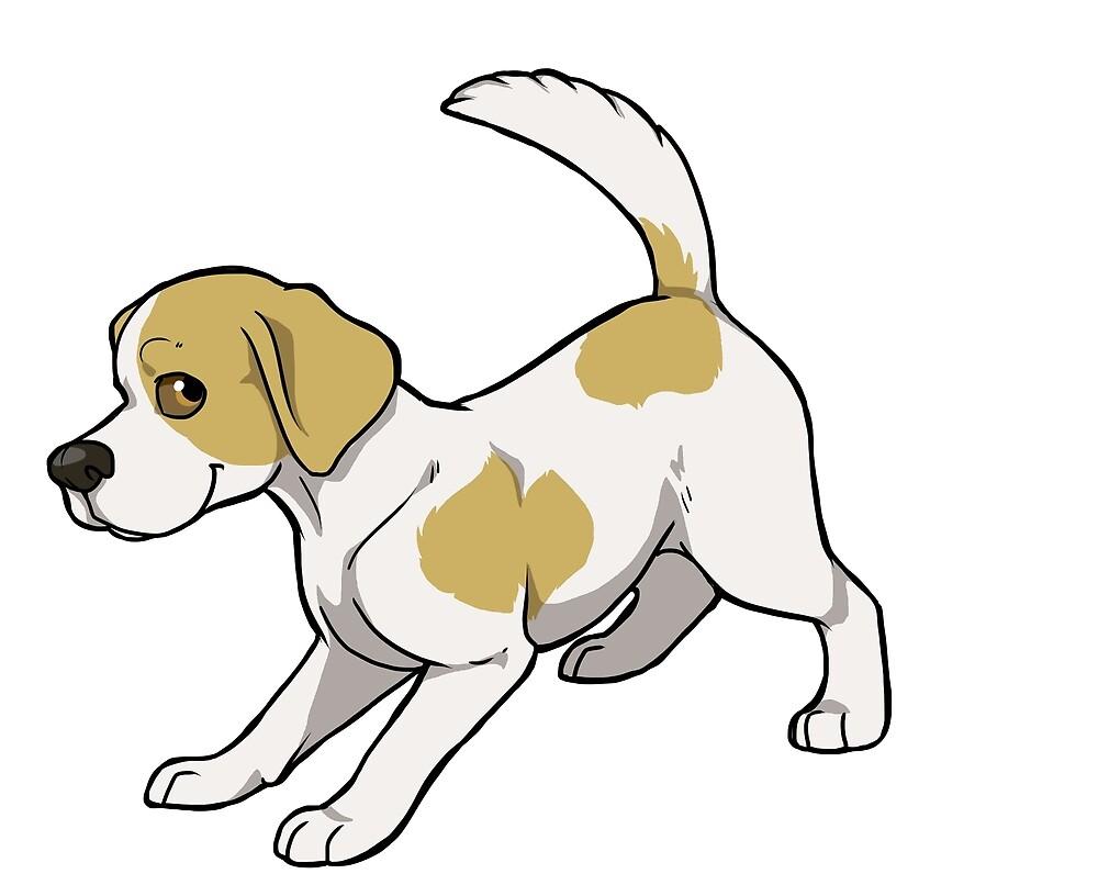 Beagle (tan & white) by KiwiJP