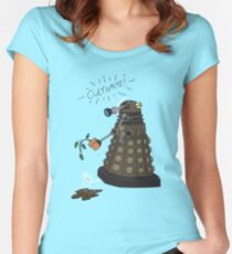 Dalek Retrement - Dr Who's Orders | CULTIVATE Women's Fitted Scoop T-Shirt