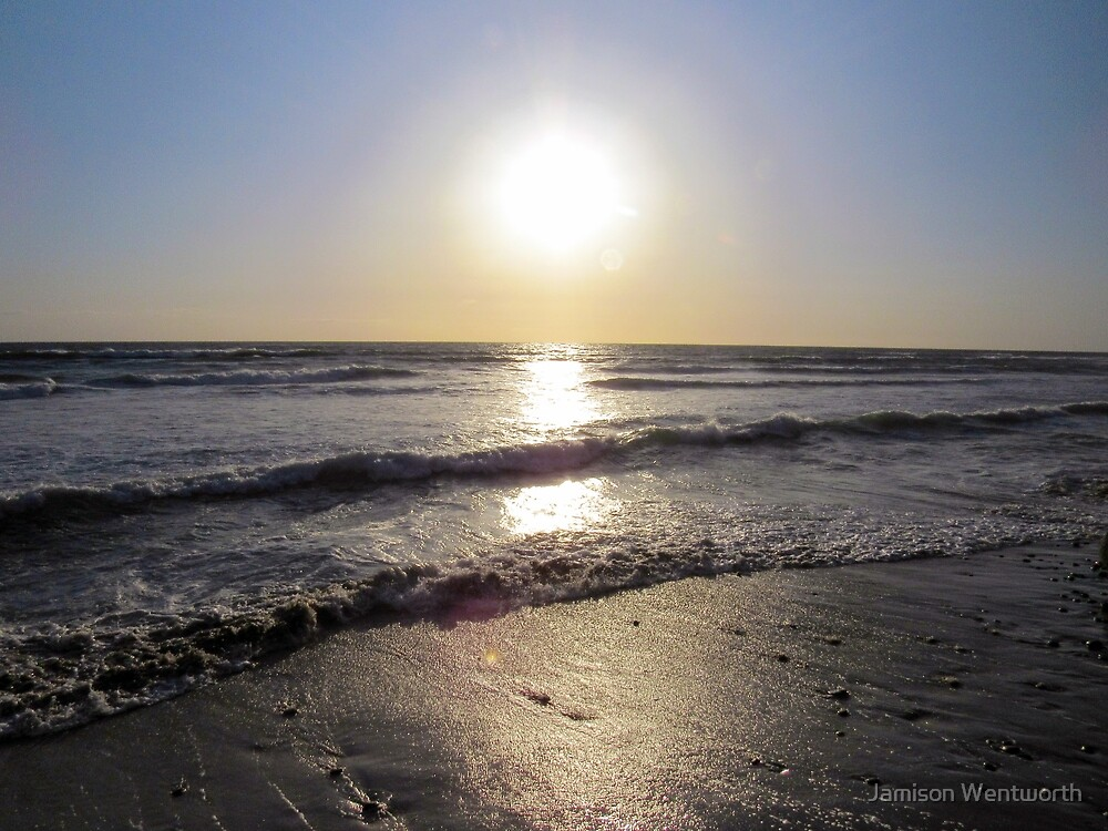 Sun Setting Over the Ocean  by Jamison Wentworth