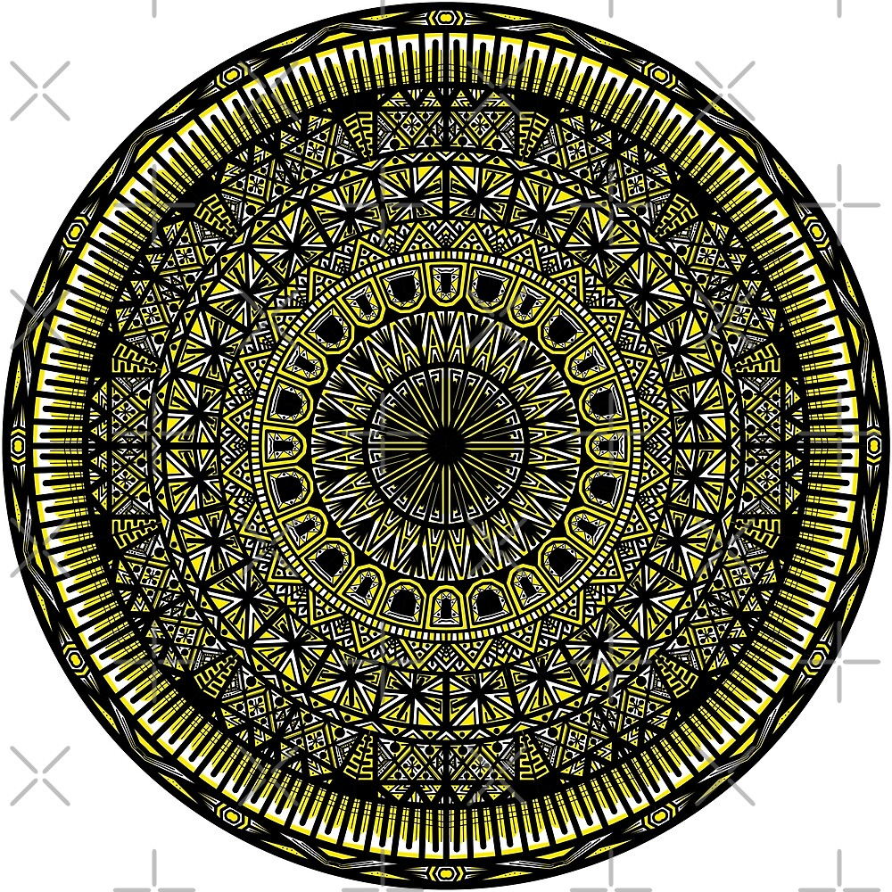 Yellow Mandala from the Ankh by bobblehead1337