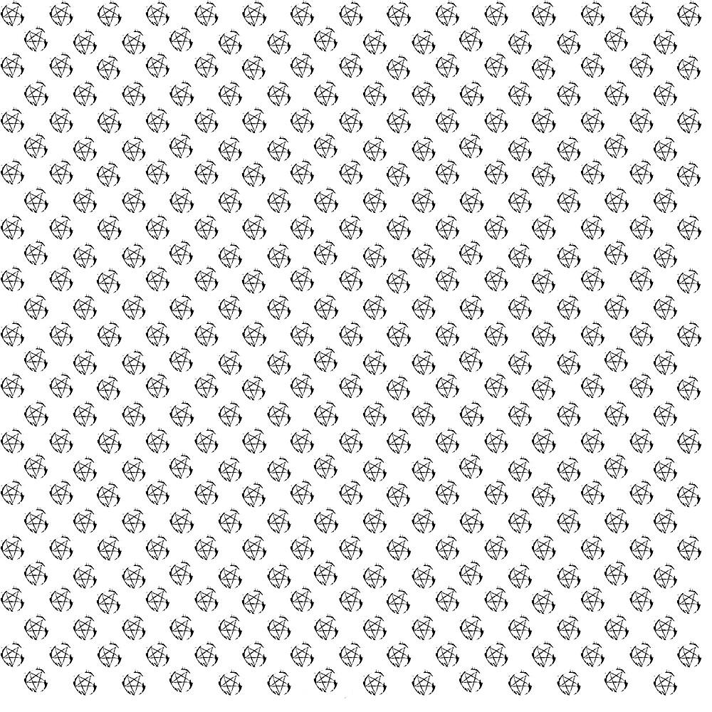 Inverted Pentagram Pattern by Witchcraft Artifact