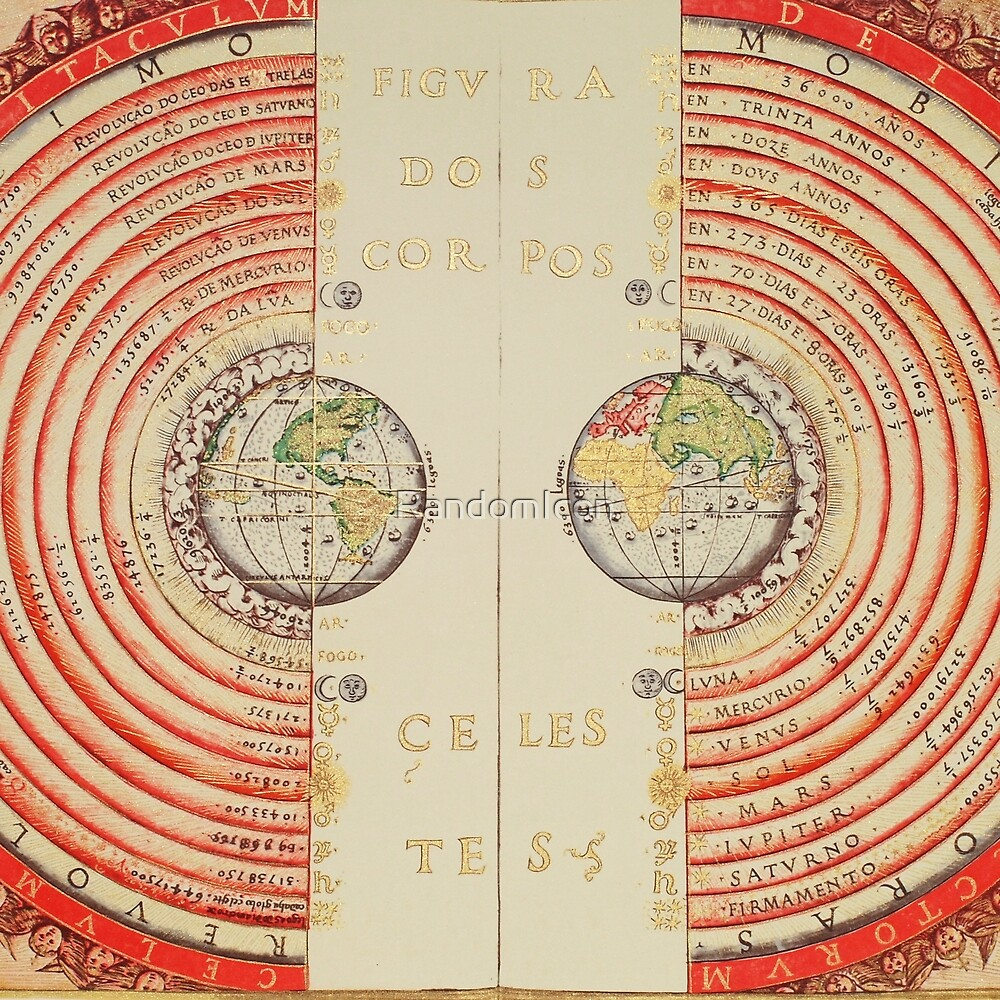 Vintage Astronomical Star Map by RandomIcon