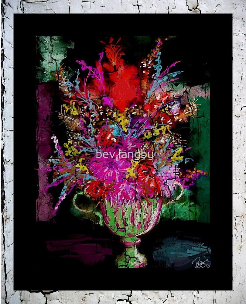 Flowers in Urn by bev langby
