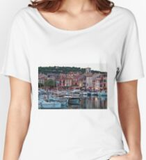 Cassis, French Riviera, in the Summer at Dusk Women's Relaxed Fit T-Shirt