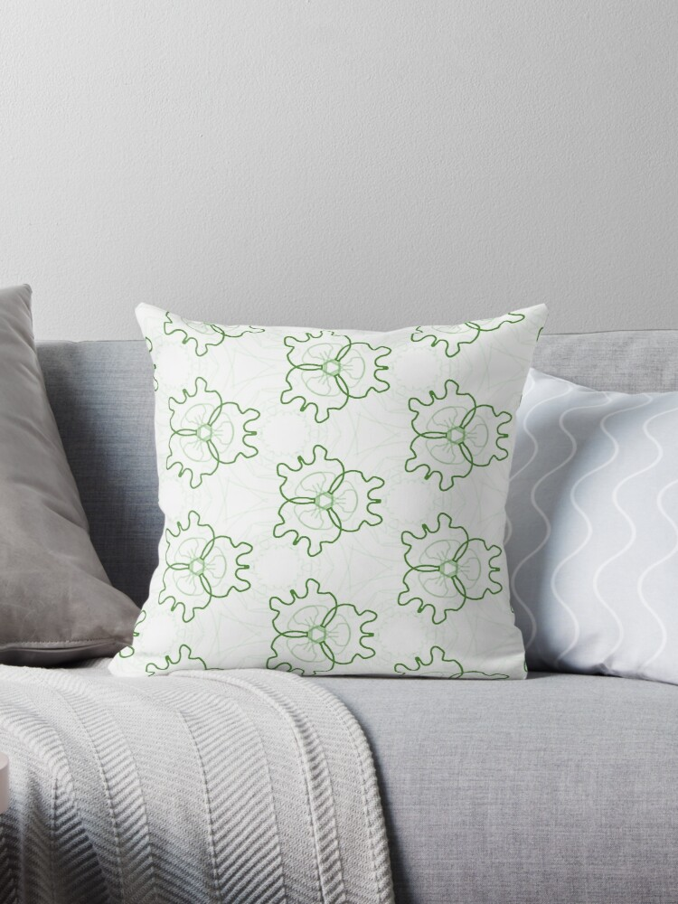 Crisp Clean Green Pattern by Artbytinavaughn