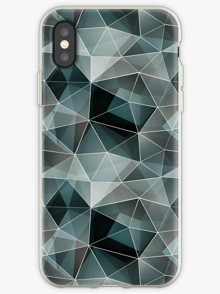 Black, grey, white polygonal pattern. by marinaklykva