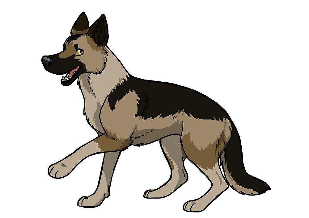German shepherd dog (Sable) by KiwiJP