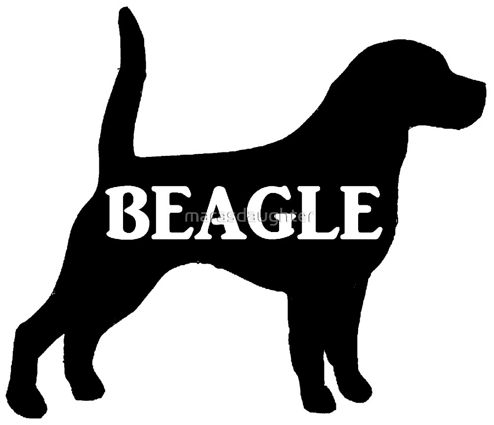 beagle name silhouette by marasdaughter