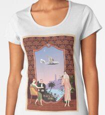 Art Deco Flying Boat - Havana, Cuba Women's Premium T-Shirt