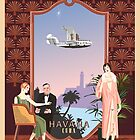 Art Deco Flying Boat - Havana, Cuba by contourcreative