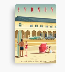 Sydney, Bondi Bathers Pavilion, 1960 Canvas Print