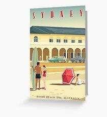Sydney, Bondi Bathers Pavilion, 1960 Greeting Card